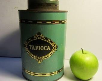 Antique/Vintage Australian 'Tapioca' Tin Canister -  Kichenalia - Country Kitchen