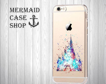 SALE!!!!Castle iPhone 7 case iPhone 7 disney case iPhone 6 disney Case iPhone 6s disney Case clear iphone 6 princess/NC-11/125