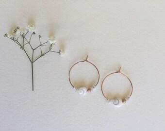 Earrings * eye of sainte Lucie *.