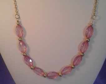 Simply pretty pink necklace women