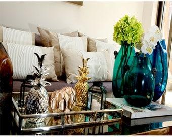 decorative pillow linen white 45*45 cm