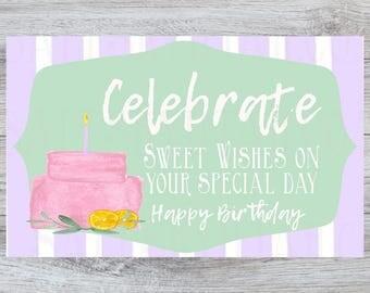 birthday printable tag, printable birthday card, printable gift tag