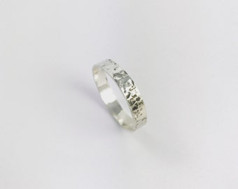 Thin Hammered Ring