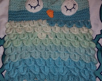 Owl baby bunting with hat