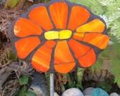 Mosaic Orange Garden Art Flower