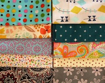 3 Fat Quarter Bundle - 100% cotton - Quilting Fabric