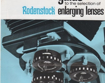 Guide to the Selection of Rodenstock Enlarging Lenses