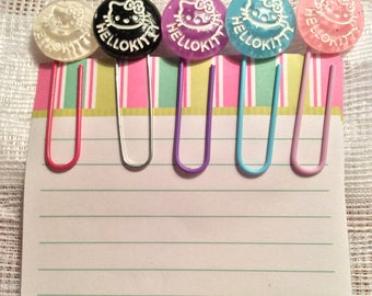 Hello Kitty Planner/Bookmark Paper Clips