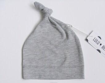 Ready to ship, Organic baby hat, knot hat, baby beanie, newborn hat, baby girl hat, baby boy hat