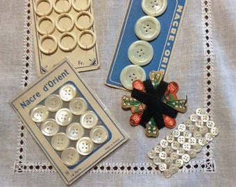antique shell buttons