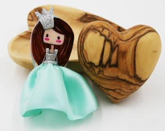 Handmade Hair Clip with princess figure