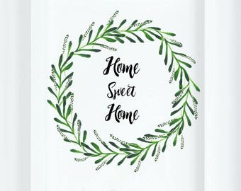 Home Sweet Home|Rustic Decor|Spring Art