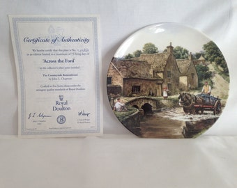 Royal Doulton, Across the Ford, Countryside Remembered Series, Ceramic Plate