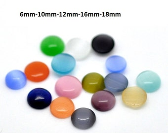 Cabochons glass glass cabochon-CatEye colorful various sizes