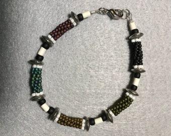 Bold Color Tube Bead Bracelet