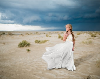 Desert sand and storm digital backdrop