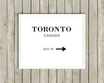 TORONTO Home Décor Wall Décor Printable,  Downloadable,Digital Print,Wall Print,Lifestyle,Fashion,Beauty,Blogger,Art,Chic,Home Office, the 6