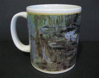 Vintage Monet Water Lilies Mug, Monet Mug, Cafe Arts Mug, Masterpiece Art Mug