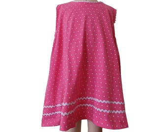 FINAL SALE Pink polka dot A line dress. Size 3T. PN-010