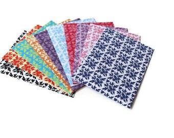 Assorted Damask patterned Envelopes, Set of 10, Assorted envelopes, Blank cards