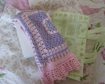 knitted cotton granny's style