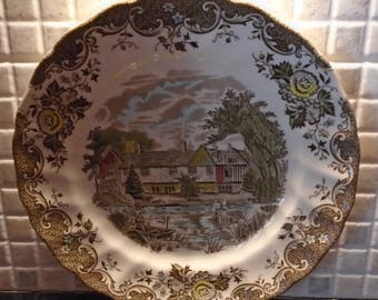Johnsons Brothers Plate Romantic England IGHTHAM MOTE  Seven Oaks Kent