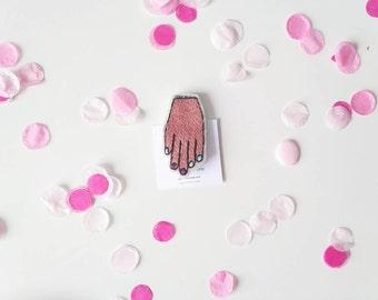 Pink brooch Handmade brooch