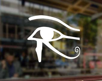 EYE OF HORUS Egyptian God Vinyl Stickers Decals Bumper Car Auto Computer Phone Mobile Laptop Wall Window Glass Skateboard Snowboard Helmet