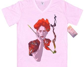 Jean Cocteau T shirt, artwork by rosenfeldtown