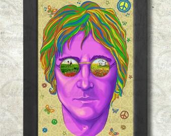 Imagine John Lennon Poster Print A3+ 13 x 19 in - 33 x 48 cm  Buy 2 get 1 FREE