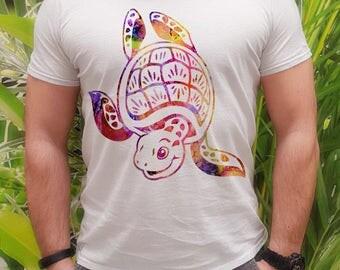 Cool t-shirt Turtle - Turtle tee - Fashion men's apparel - Colorful printed tee - Gift Idea
