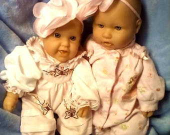 Two Berenguer Realistic 15 inches Baby Girls