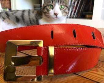 Red belt 80s vinyl