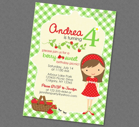 Sweet picnic birthday invitation multiple hair styles available il570xn filmwisefo