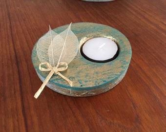 Handmade Patina candle holder