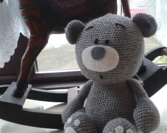 Hand crocheted Teddy Bear