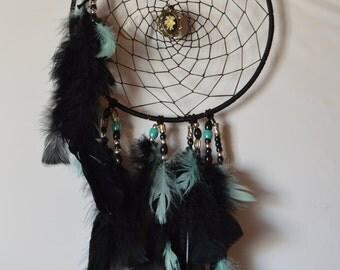 "Dreamcatcher 10"" black/turquoise"