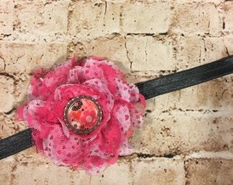 Hearts & Flowers Headband or Hair Clip