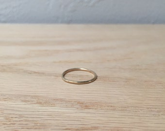 10k Solid Gold Ring No. 15 - Slim Band - Stackable - Geometric - Modern - Handmade