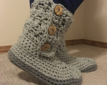 Criss Cross Slipper Boots