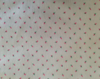 Cotton rosebud  print knit jersey, 60 inches wide and 2 1/4  yards long