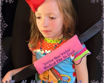 Safety Alert Car Seatbelt Cover, Special Needs Child, Seatbelt, Car seat accessory