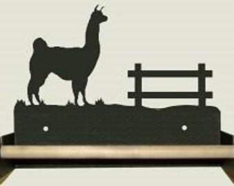 Wood Bar Paper Towel Holder - Llama Design