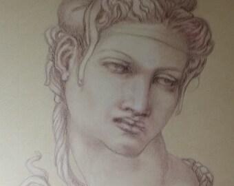 Cleopatra sketch (after MichelAngelo)