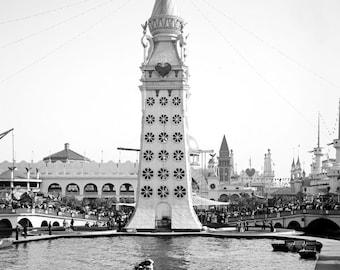 "1903 The Electric Tower, Luna Park,Coney Island, New York Vintage Photograph 11"" x 17"" Reprint"