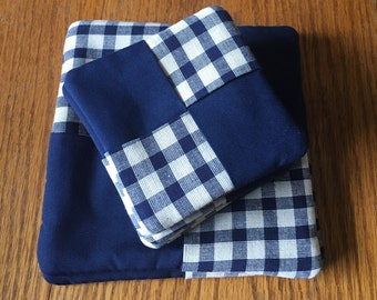 Coasters and pot holder set ( mug rugs)