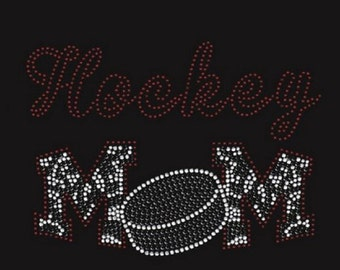 Hockey Mom Rhinestone Iron on Transfer                                            EFZB