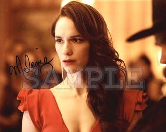 Wynonna Earp Signed Melanie Scrofano 8x10 Autograph RP - Great Gift Idea - Ready to Frame photo picture