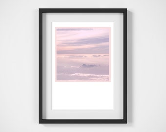 Pink Sky Print, Digital Download, Wall Art, Photography Print