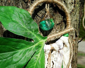 Dream catchers natural green Crystal